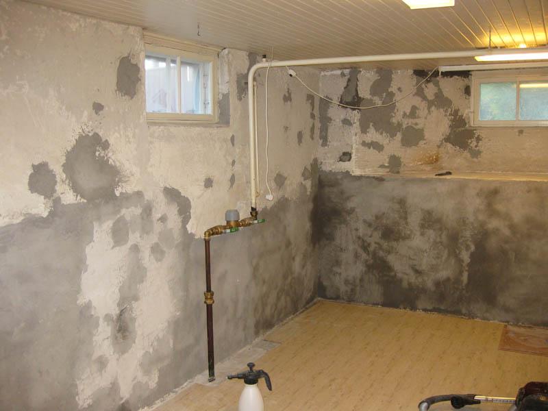 putsa betongvägg inomhus